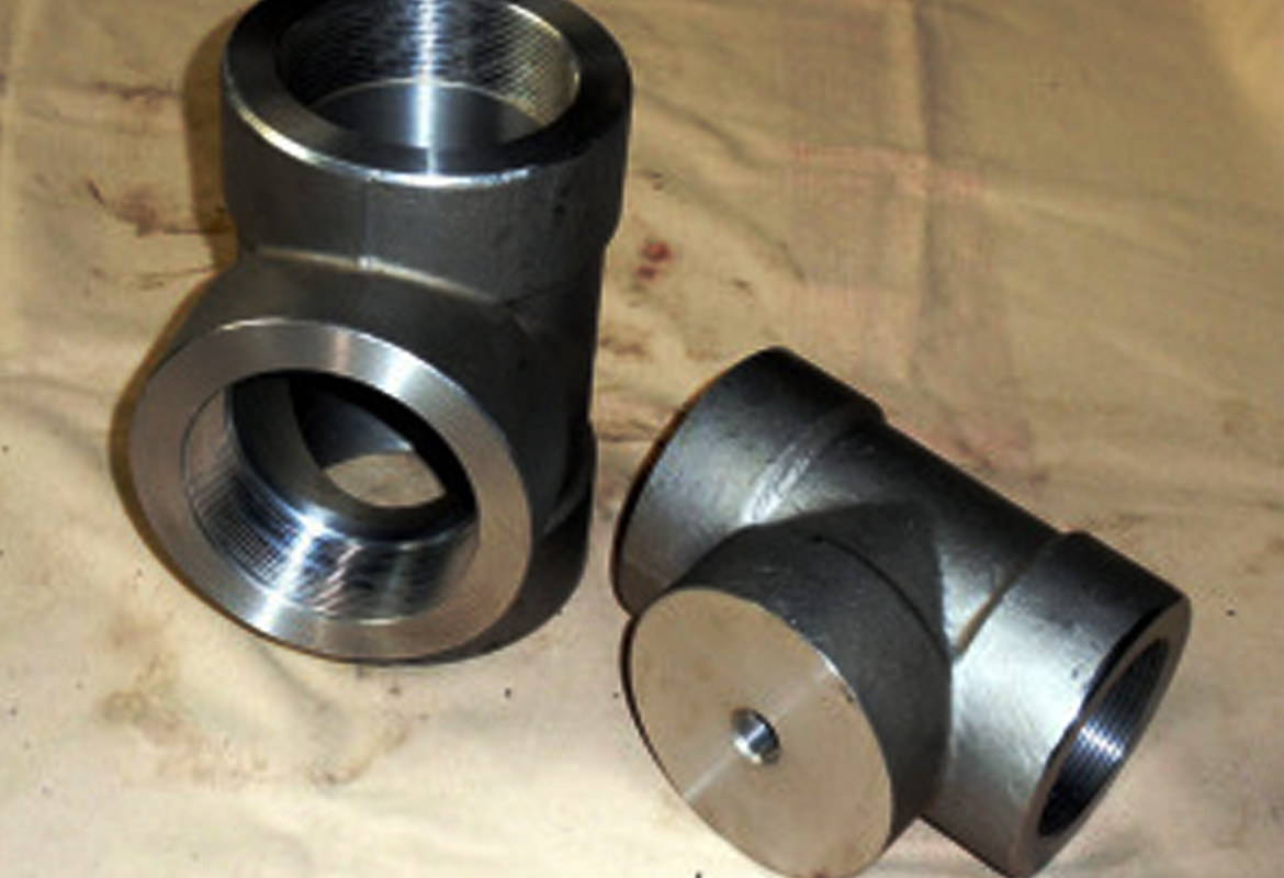 Socket weld tees forged stainless steel